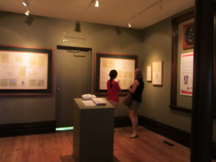 """The Frances Ruth Lawson gallery, currently housing the """"Dear Dr. Banting"""" exhibit. This is the space we will use for our new exhibit."""