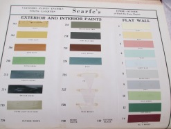 Historic catalogues helped us choose proper paint colours.