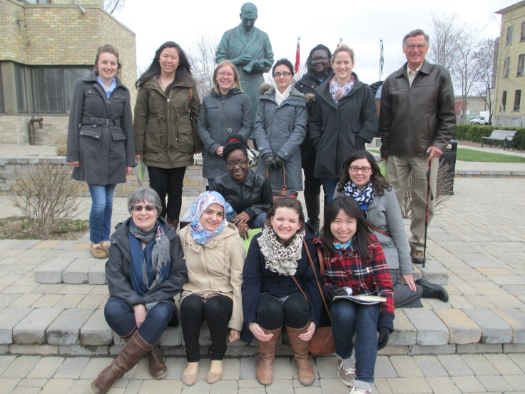 A group of the volunteers and I pose in Sir Frederick G. Banting Square after this week's luncheon. Thanks for welcoming me into your group this year!