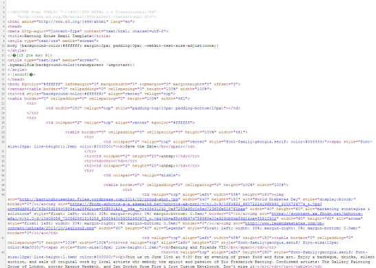Rows of text with HTML coding on a white background.