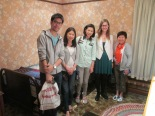 The Ruangnapas, Sitasuwans (visitors from Thailand) and I in Frederick Banting's bedroom.