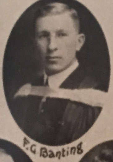 Dr. Banting's graduation photo from the University of Toronto in 1916.