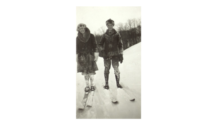 james havens 1924 on skis