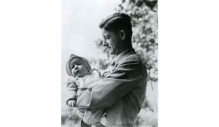 james havens with his child