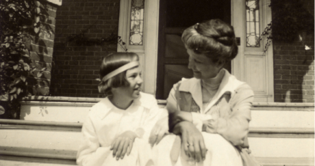 hughes with her mother 1918