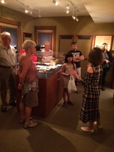 Our volunteer Hanna showing our visitors around!