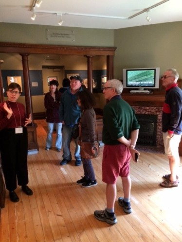 Our volunteer Audrey showing our visitors around!